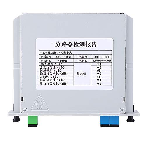Leyeet Divisor óptico del PLC de la fibra óptica del solo modo del divisor SC-UPC 1X2 de la cuchilla del PLC
