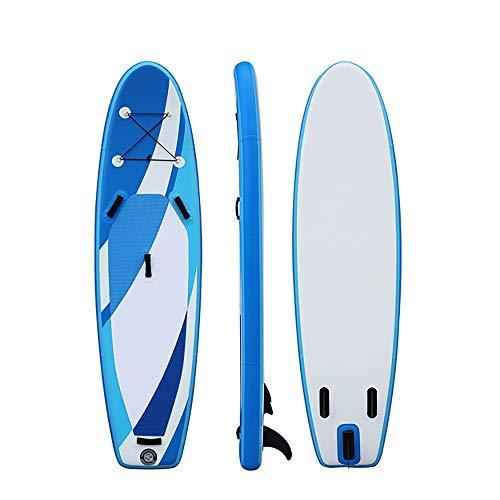 NgMik Tabla De Surf Inflable Soporte Inflable Up Paddle Junta 300cm Largo 76cm Ancho 15cm Grueso Paquete Sup Estable (Color : Blue, Size : 300x76x15cm)