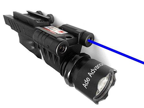 Ade Advanced Optics 650 lm Dual Strobe Flashlight with Blue Laser Combo Sight