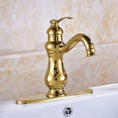 Retro Deluxe Fauceting Gratis verzending kunstenaarse gouden kleur wastafel armaturen plafond gemonteerd, warm en koud water mengbatterijen, 10 inch afdekplaat