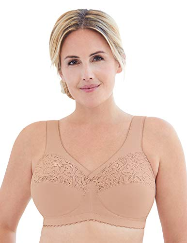 Glamorise Full Figure Plus Size MagicLift Cotton Support Bra Wirefree #1001
