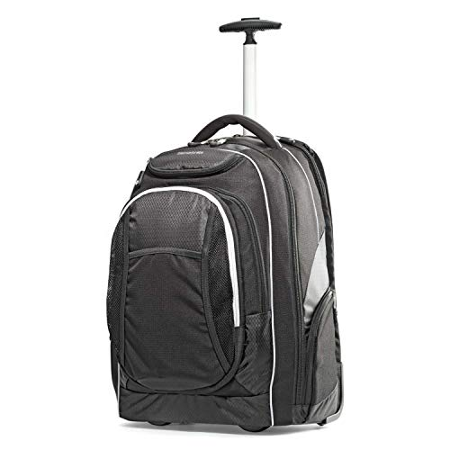 Samsonite Tectonic Wheeled Backpack, Black, 17-Inch