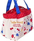 Hello Kitty Drawstring Lunch Box Bento Snack Compact Storage Bag Small Tote Bag Water Repellent Lining