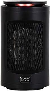 Black+Decker BXSH37013GB Digital Ceramic Tower Heater with Climate Control, 9 Hour Timer, 1.2kW, Black