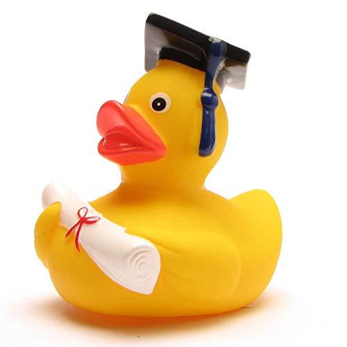 lustige Akademiker Badeente mit Diplom - Quietscheentchen mit Doktorhut - Geschenk bei Prüfungen Abschlussfeier Uni Universität Hochschule