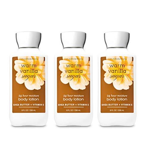 Bath and Body Works Warm Vanilla Sugar Body Lotion - Lot of 3 - 8oz each