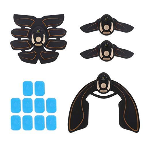 Sharplace Cinturón Estimulador de Abdominales Inteligente Cinturón de Tonificador de Levantamiento de Glúteos con Brazo Abdominal con 10 Almohadillas