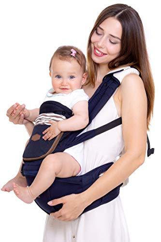 Sonbee Marsupio Neonati Ergonomico 7in1 - Porta Bimbo per Posizione ad M - Favorisce il Rapporto Madre-Figlio - Design Italiano - 0-36 Mesi   3-20 Kg