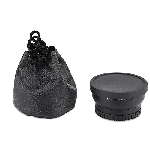 Bewinner Obiettivo grandangolare 52mm Grandangolo 0,45X per riprese ravvicinate, Obiettivo Macro a conversione Universale per Canon, Una Visione più Ampia Rispetto all'obiettivo Normale
