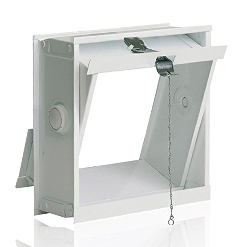 Ventana oscilobatiente: para el montaje en la pared de bloques de vidrio para 1 bloque de vidrio 19x19x8 cm