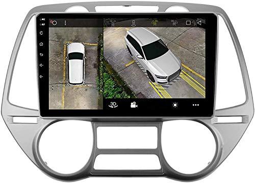 MIVPD Compatible para Hyundai I20 2018 Android 10.0 Sat Nav FM Radio Receptor Doble DIN Auto Audio Player Coche Estéreo 10 Pulgadas Pantalla Táctil LCD Monitor GPS Navegación,8 Core 4G+WiFi 4+64GB