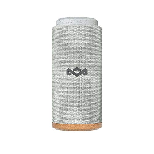 House of Marley No Bounds Sport Bluetooth Lautsprecher, wasserdicht, staubdicht & sturzsicher IP67, schwimmfähig, 12 Std Akku, Karabiner, Schnellladung, 360° Sound, Dual Pairing, Mikrofon, grey