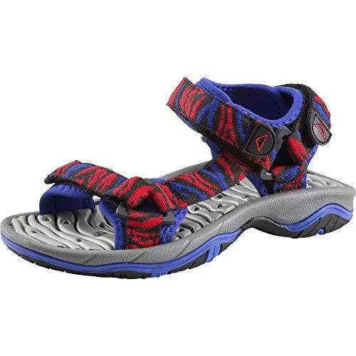 McKINLEY Joik III Jr, Chaussures de Randonnée Basses Mixte Enfant, Schwarz (SCHW/Rot/Blau 902), EU