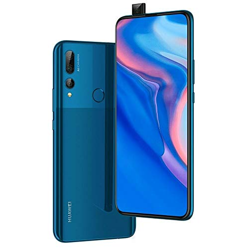 "Huawei Y9 Prime 2019 (128GB, 4GB RAM) 6.59"" Display, 3 AI Cameras, 4000mAh Battery, Dual SIM GSM Factory Unlocked - STK-LX3, US & Global 4G LTE International Model (Sapphire Blue, 128 GB)"