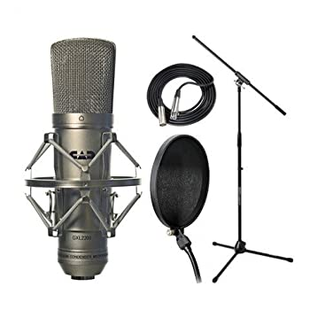 CAD Audio GXL2200 Microphone with Shockmount Cable Stand Filter