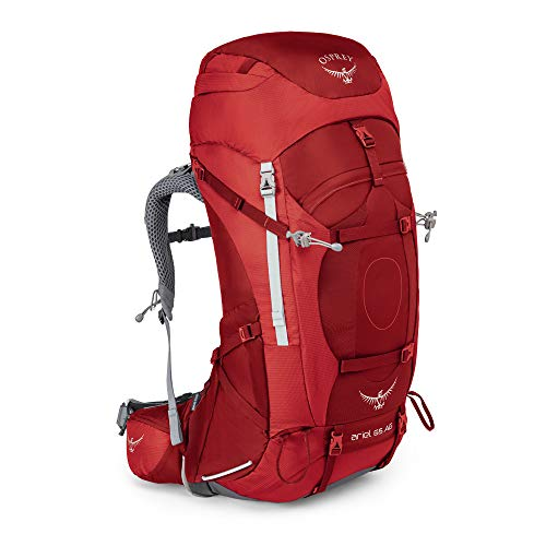Osprey Damen Ariel AG 65 Backpacking Pack, Picante Red, WM