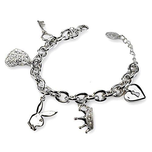 Playboy Charm-Armband diversen Anhängern - von International Connection