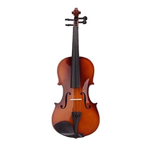SODIAL(R)4/4 Tamano Completo Natural Acustica Violin con Estuche Arco Colofonia