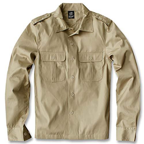Brandit US Hemd Langarm Beige - 3XL