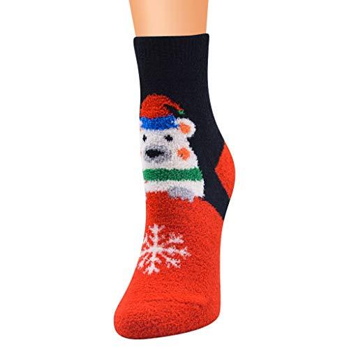 A pair of Christmas socks set women girls colourful funny cute stockings Christmas motif winter socks Christmas gift - Multicolour - One size