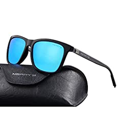 POLARIZED LENS - Polarized sunglasses reduce glare reflected off of roads, bodies of water, snow, and other horizontal surfaces. Restore true color, eliminate reflected light and scattered light and protect eyes perfectly. Polarized sunglasses cut gl...