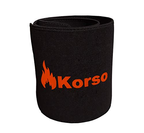 Korso Neoprene Sweat Slim Belt (Waist Trimmer) for Men and Women Neoprene Body Shaper.