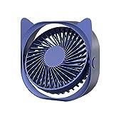 Debuy Mini ventilador USB ultra silencioso con 3 velocidades, ventilador USB, silencioso y fácil de llevar, para la oficina, el hogar y al aire libre (azul)