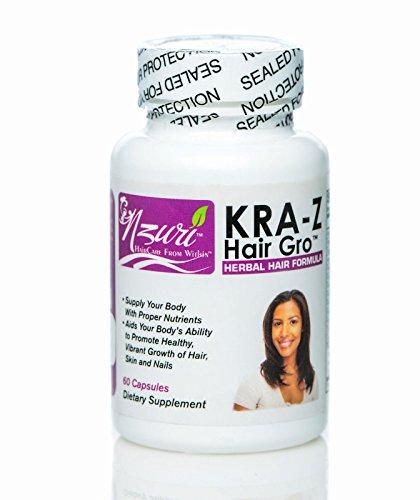 Vitamins for Hair Fast Hair Growth Long Healthy Hair Pills Nzuri Kra-z Hair Gro About Hair