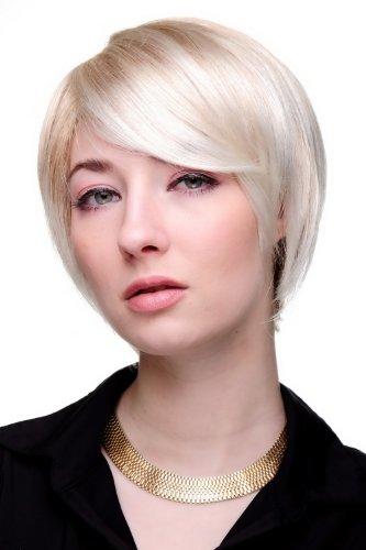 WIG ME UP - 6082-27T613 Perücke cool blond kurz glattes Haar mit Scheitel