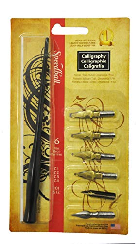 Speedball Art Products Basic Calligraphy Pen Set, Black