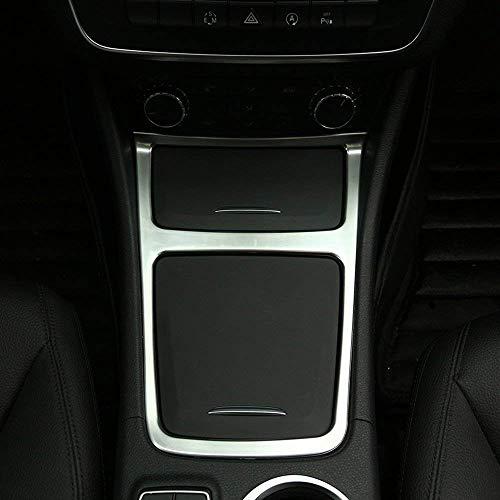 Accessoire intérieur de véhicule Automatique, pour CLA GLA Classe A W117 C117 2013-2017, Garniture de boîte de Rangement Centrale, Cadre pour cendrier, chromage ABS, argenté, 1 pcs/kit