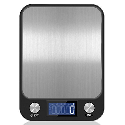 MOUSEAN Food Weight Scale Digital Kitchen Scale Multifunction Food Scale 22lb 10kg Stainless Steel Food Scale (Batteries Included)