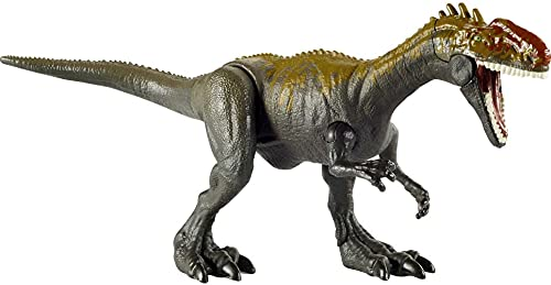 Jurassic World Camp Cretaceous Monolophosaurus Savage Strike Dinosaur Figure, Smaller Size, Attack Move Iconic to Species, Movable Arms & Legs, Ages 4 Years Old & Up