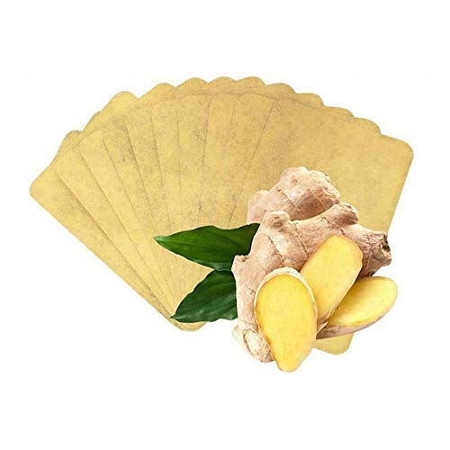 Herbal Ginger Foot Pads, Ginger Organic Sleep Foot Care Relax, Anti-Inflammation Swelling & Easy to Use, for Women Men Neck Shoulder Waist Leg Promote Blood Circulation (40 Pcs)