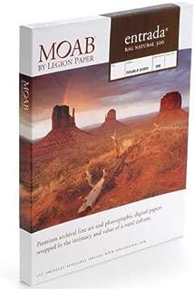 """Moab Entrada Rag Fine Art, 2-Side Natural Matte Inkjet Paper, 22.5 mil., 300gsm, 5x7"""", 25 Sheets"""