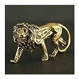 CHENTAOCS 3D Mini Lion Casting Animal Figurine Estilo Retro Escultura Metal Home Office Room Desktop Decoration Recogar Adornos Regalo (Color : Gris Claro)