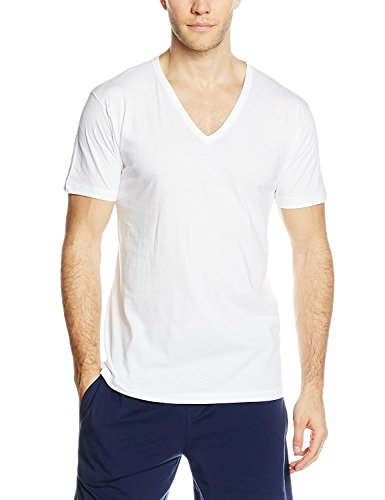magliette uomo scollo v 3 t shirt corpo uomo LIABEL mezza manica scollo a V 100% cotone art. 03828/53 (5/L)