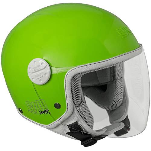 CGM Varadero, Casco Bambino Junior Demi Jet Moto Scooter, Verde, YS (49-50cm)