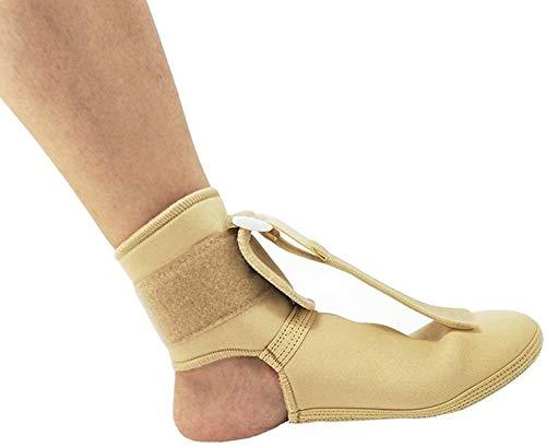NQCT Wiederverwendbare Fußstütze, Breathable Anti-Rutsch Einstellbare Kompressionssocken, Knöchelgelenkstütze Einstellbare Fallfuß Orthotics Brace Stabilisator for rechts oder Links Fuß 10.1
