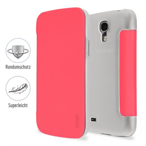 Artwizz SmartJacket Handy-Schutzhülle Blatt Pink - Handy-Schutzhüllen (Blatt, Samsung, Galaxy S4 Mini, Pink)