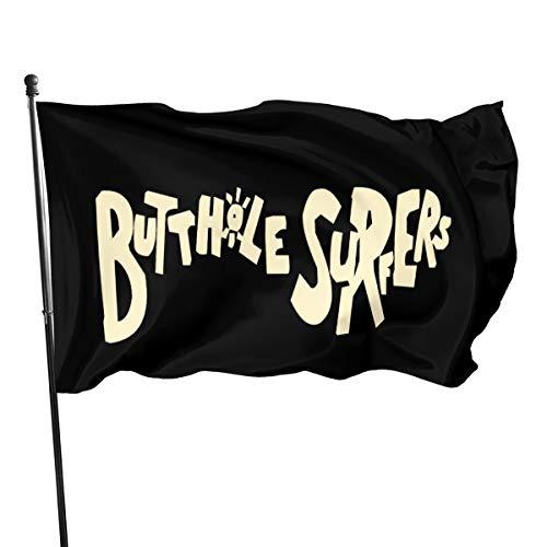 N / A Butthole Surfers Fahnen Flagge Flag Banner Polyester Material Gartenbalkon Gartendekoration Im Freien 90x150cm