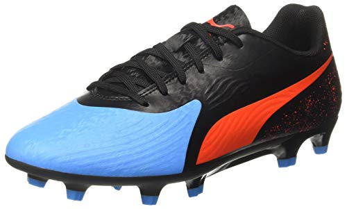 Puma One 19.4 FG/AG, Scarpe da Calcio Uomo, Blu (Bleu Azur-Red Blast Black), 44.5 EU