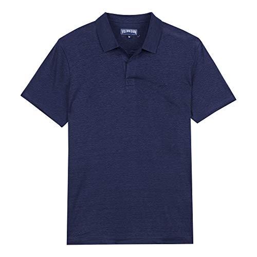 Vilebrequin - Solid Polohemd aus Leinenjersey für Herren - Marineblau - L