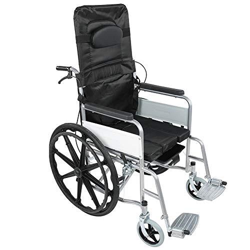 Ejoyous Faltrollstuhl, Kohlenstoffstahl Klappbarer Rollstuhl mit Gepolsterte Handläufe und Feststellbremsen Sorgen für ältere und behinderte Menschen Maximale Belastung 120 kg 119 x 95 x 67 cm