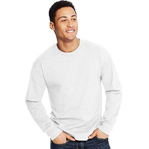 Hanes X-Temp Mens Long-Sleeve T-Shirt O5716, L, Ebony