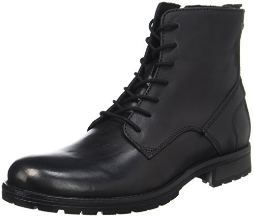 JACK & JONES Herren Jfworca Leather Stiefel, Schwarz