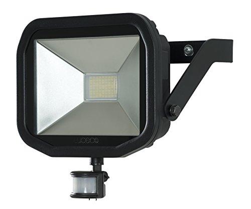 luceco lfsp30b130 de l'UE A +, Spot Projecteur à LED avec détecteur de mouvement, aluminium, 38 Watts, noir, 26 x 7,8 x 23 cm