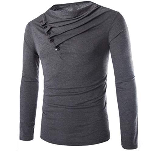 Lfly Herren Sweatshirt, Herren Classic Einfarbiges Sweatshirt Basic Langarm Pullover V-Ausschnitt Langarmshirt, 2020 Sweatshirt, Slim fit Hemd Sweatshirt Streetwear L