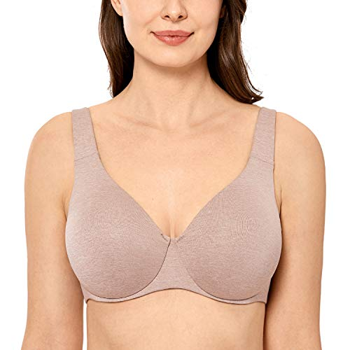DELIMIRA AISILIN Women's Plus Size Bras Minimizer Seamless Unlined Cup Cameo Heather 44C
