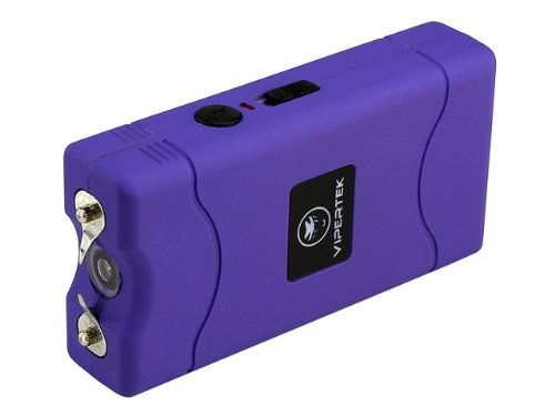 VIPERTEK VTS-880 - 30 Billion Mini Stun Gun - Rechargeable with LED Flashlight, Purple 4